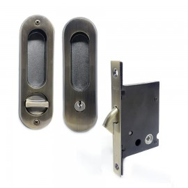 Fecho Concha HAGA -  para Porta de Correr Oval - Externa - 26417